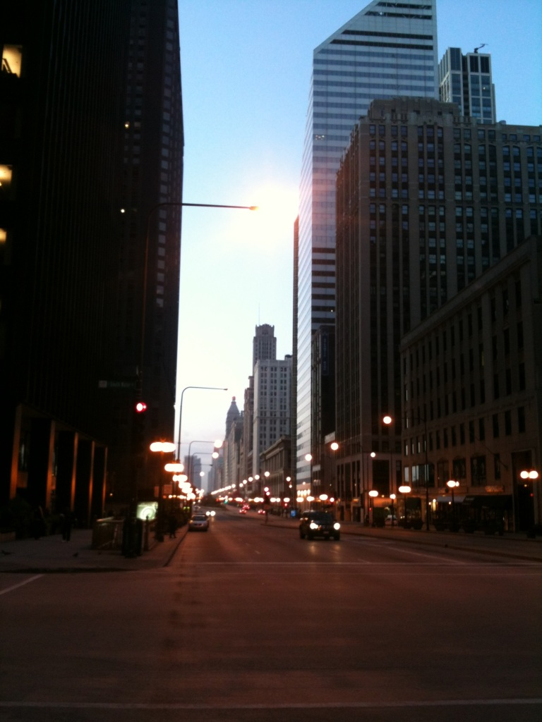 Michigan Avenue in Chicago @ 5am