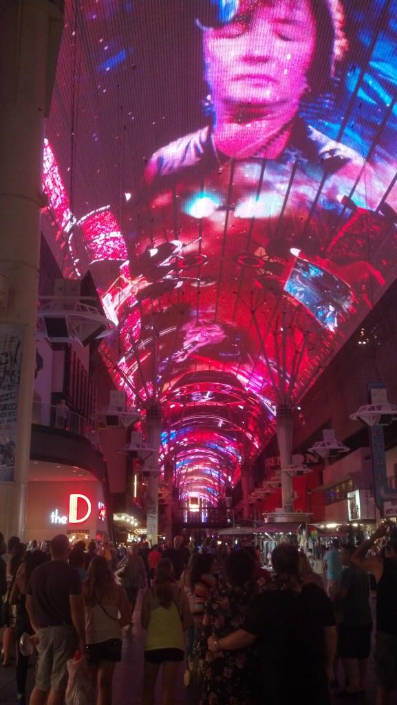 The Freemont Street Experience in Las Vegas