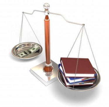 money-and-books-on-balance-scale